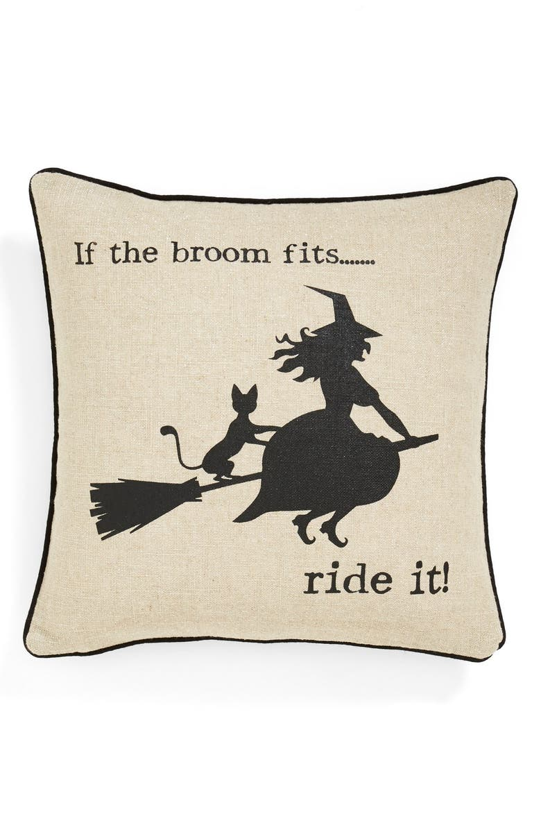 LEVTEX 'Witty Witch' Accent Pillow, Main, color, 001