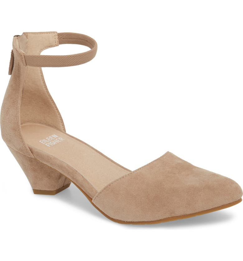 EILEEN FISHER Just Open Sided Pump, Main, color, EARTH SUEDE