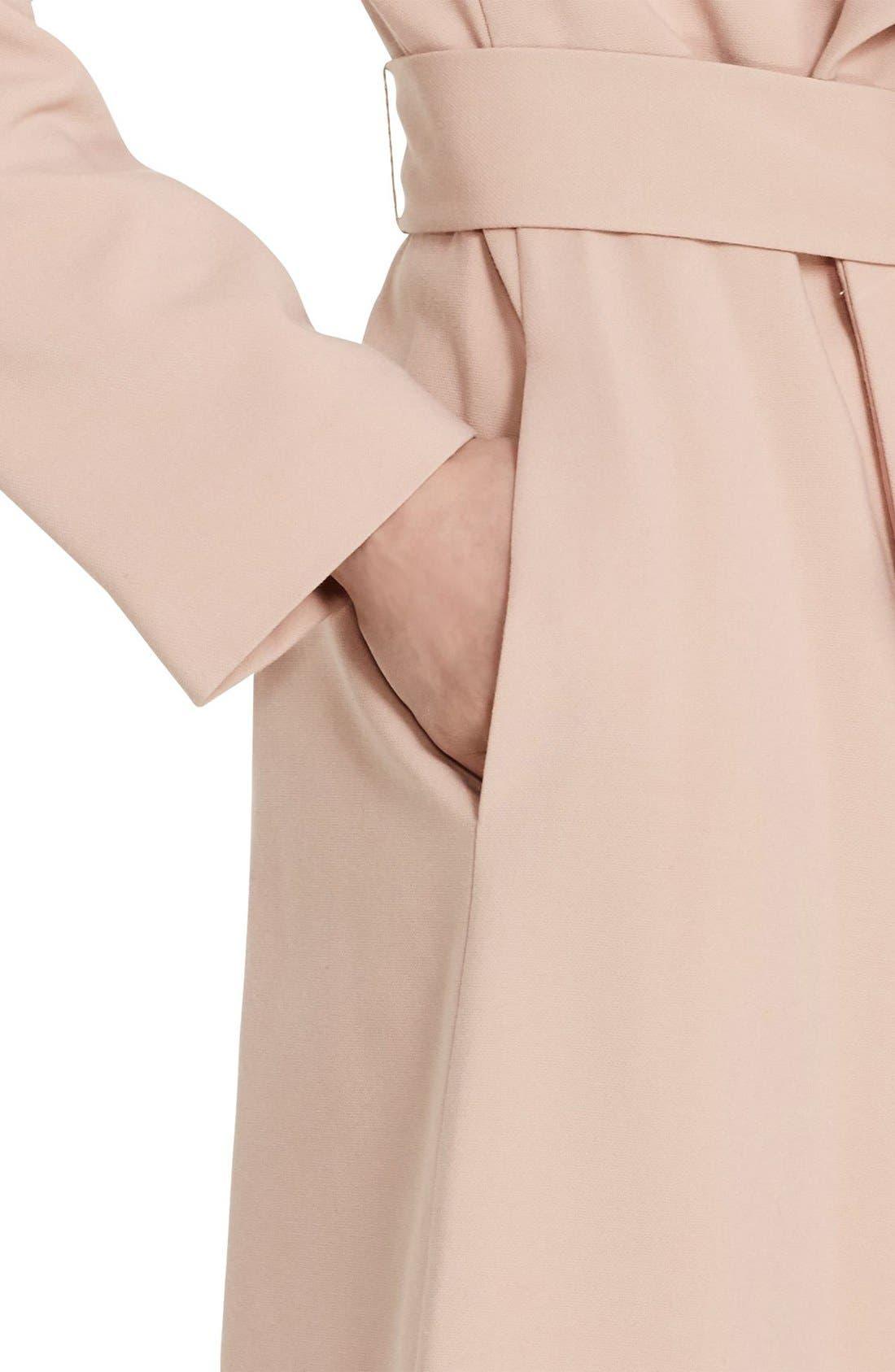 ,                             Belted Drape Front Coat,                             Alternate thumbnail 65, color,                             689