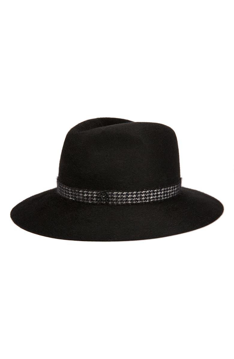 MAISON MICHEL Henrietta Fur Felt Hat, Main, color, BLACK