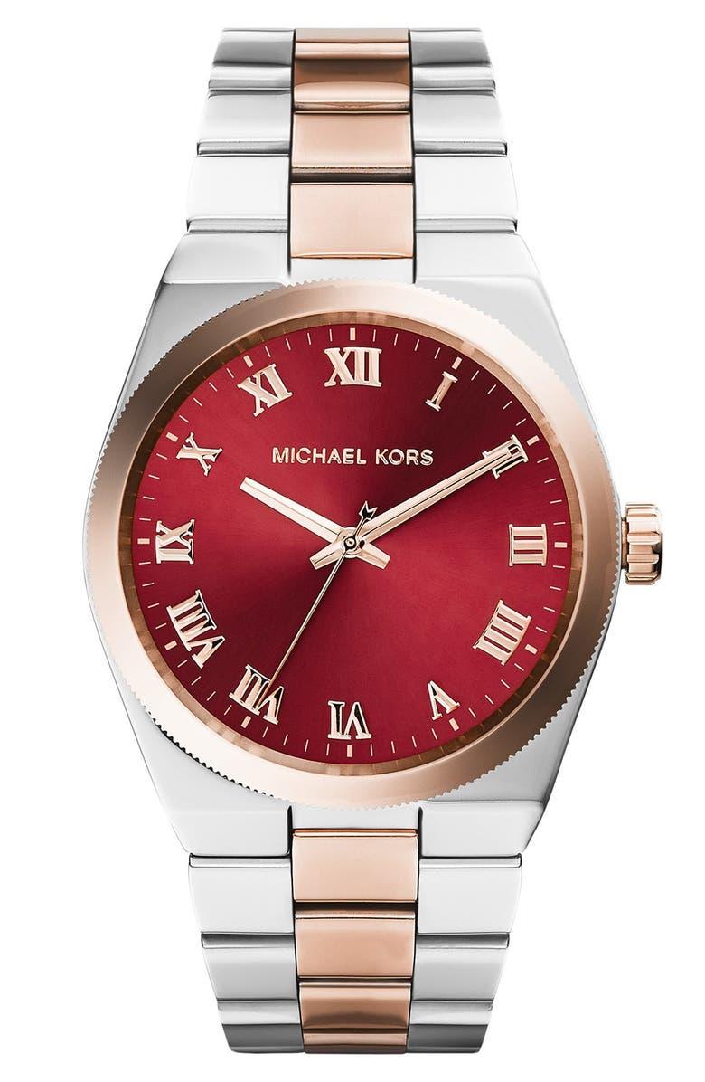 MICHAEL MICHAEL KORS Michael Kors 'Channing' Turquoise Dial Bracelet Watch, 38mm, Main, color, 040