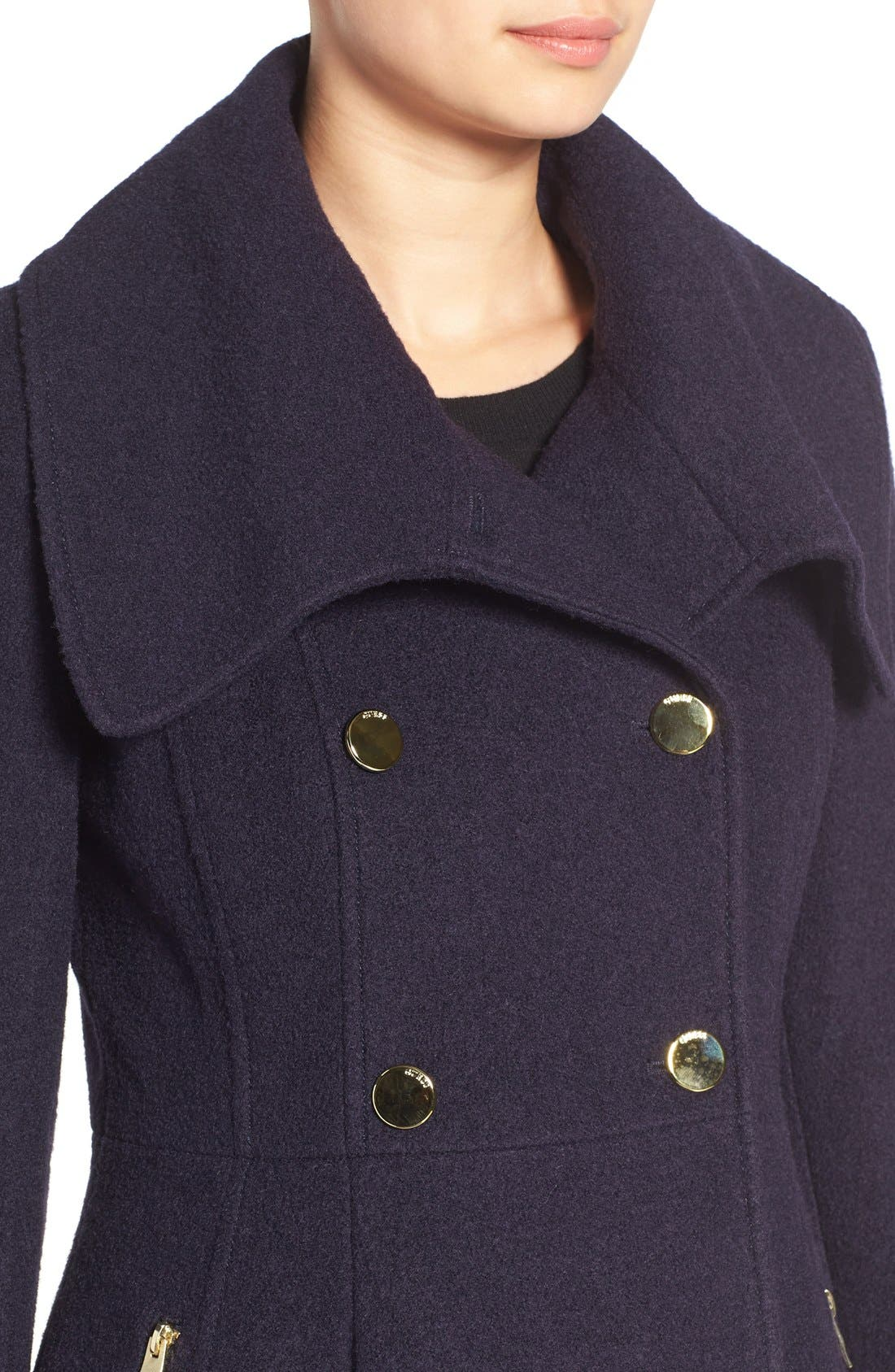 ,                             Envelope Collar Double Breasted Coat,                             Alternate thumbnail 8, color,                             410