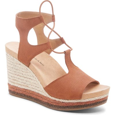 Lucky Brand Yejida Espadrille Wedge Sandal, Brown