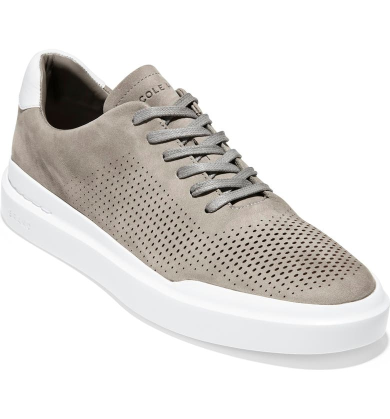 COLE HAAN GrandPro Rally Sneaker, Main, color, IRONSTONE/ OPTIC WHITE NUBUCK