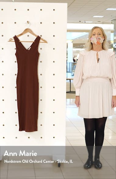 Ribbed Body-Con Midi Dress, sales video thumbnail
