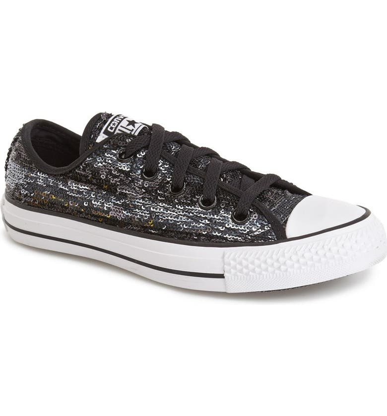 CONVERSE Chuck Taylor<sup>®</sup> All Star<sup>®</sup> 'Sequin Flag' Low Top Sneaker, Main, color, 005