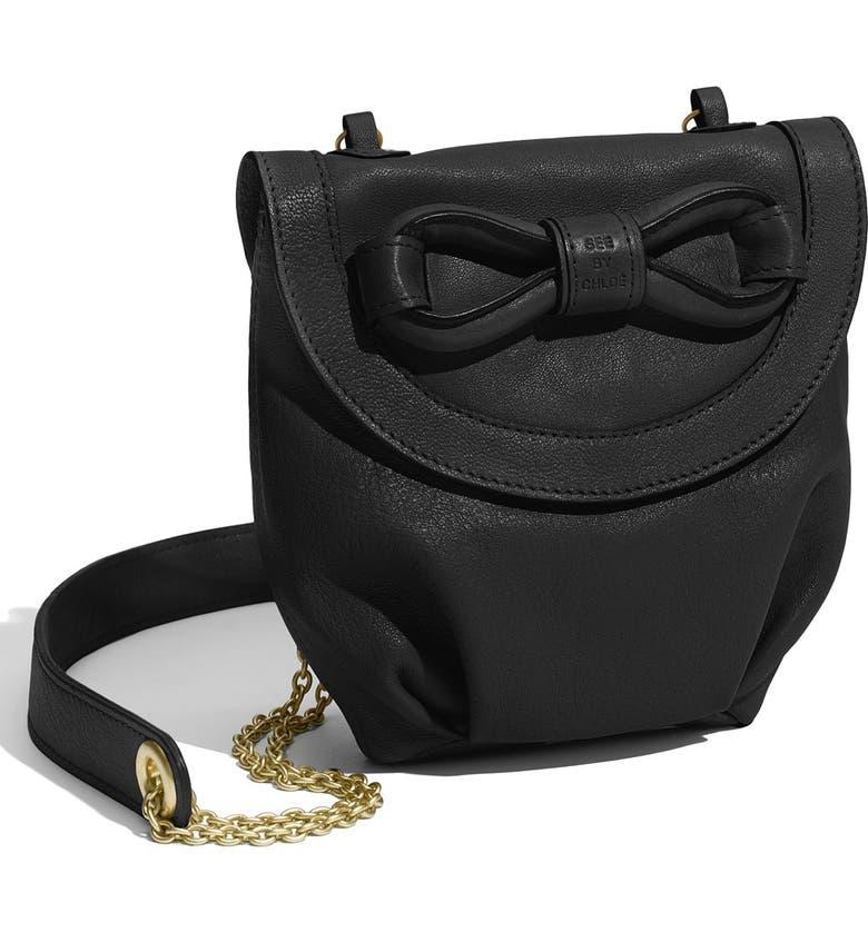 SEE BY CHLOÉ 'Funny Love Bow - Mini' Crossbody Bag, Main, color, 001