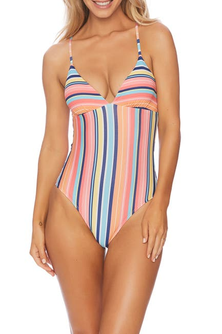 Image of Splendid Juicy Fruit Stripe One-Piece Swimsuit