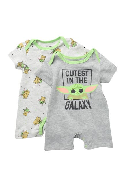 Image of HAPPY THREADS Star Wars The Child Romper - Pack of 2