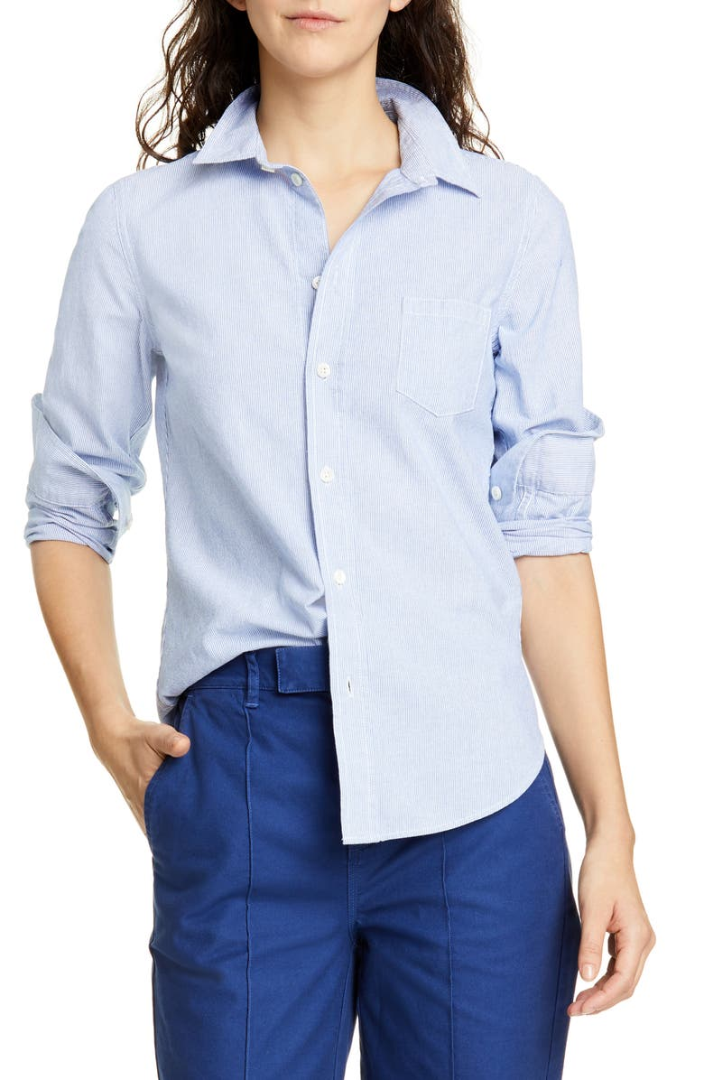 ALEX MILL Shrunken Fine Stripe Shirt, Main, color, 400