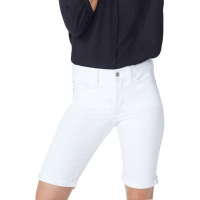 Plus Size Nydj Briella Roll Cuff Bermuda Shorts, White