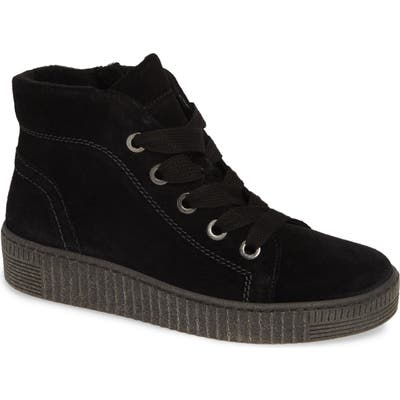 Gabor High Top Sneaker, Black