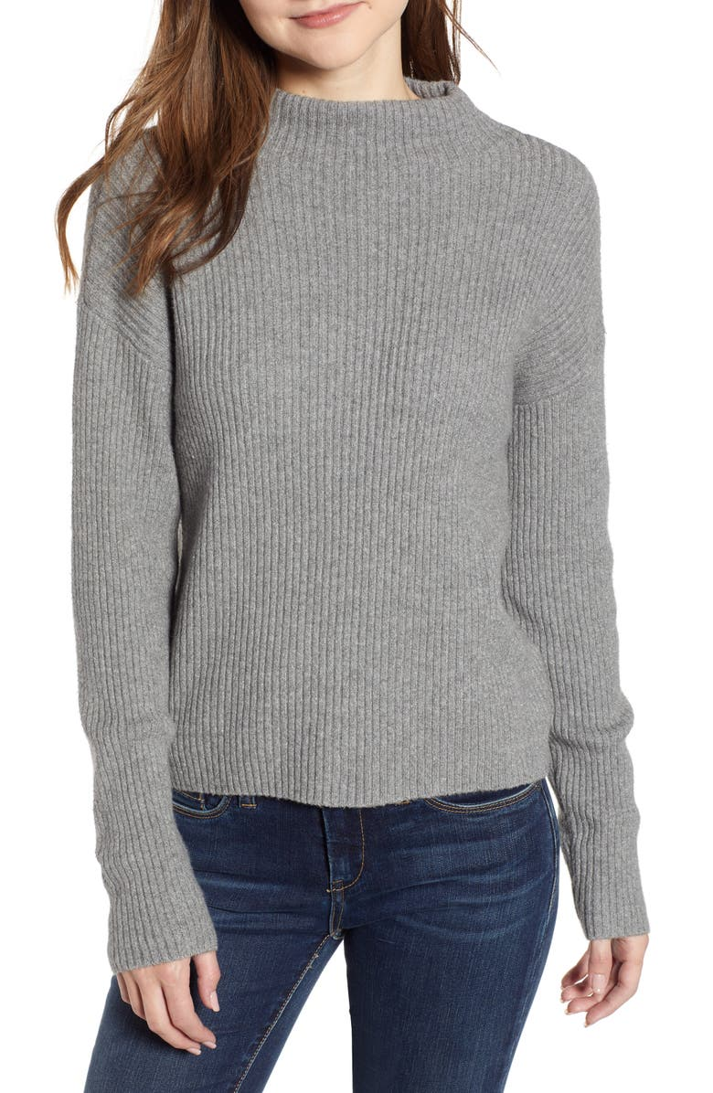BP. Ribbed Funnel Neck Sweater, Main, color, 030