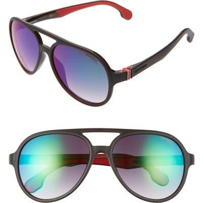 Carrera Eyewear 5m Aviator Sunglasses - Matte Brown/ Green Mirror
