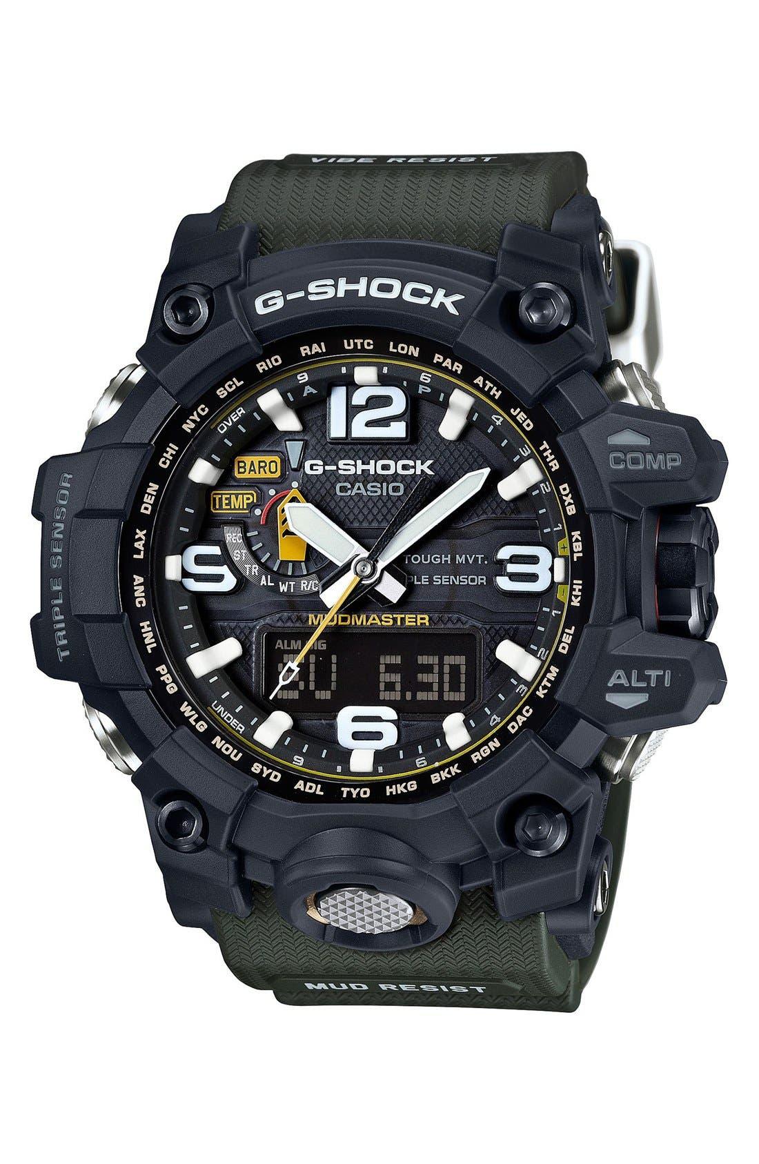 Men's G-Shock 'Mudmaster Atomic' Resin Watch