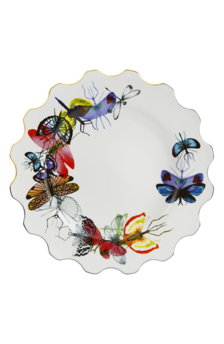 CHRISTIAN LACROIX Caribe Dinner Plate, Main, color, WHITE
