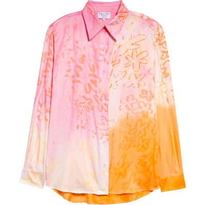Collina Strada Sunny Tie Dye Button-Up Shirt, Ivory
