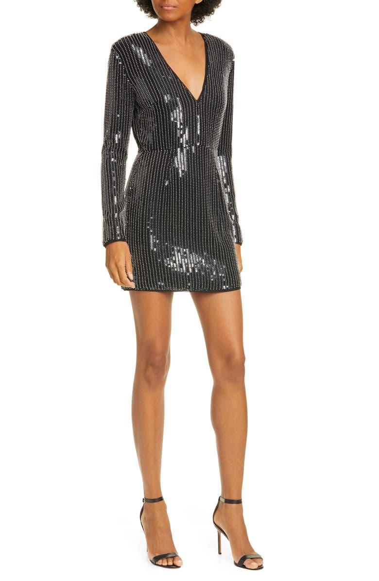 Carlotta Long Sleeve Sequin Minidress