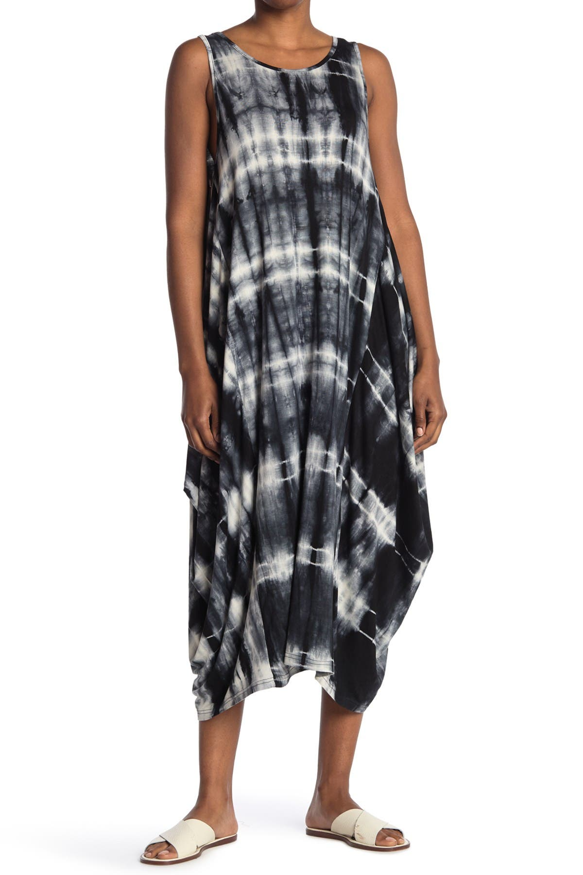 Image of STITCHDROP Draped Tie-Dye Maxi Tank Dress