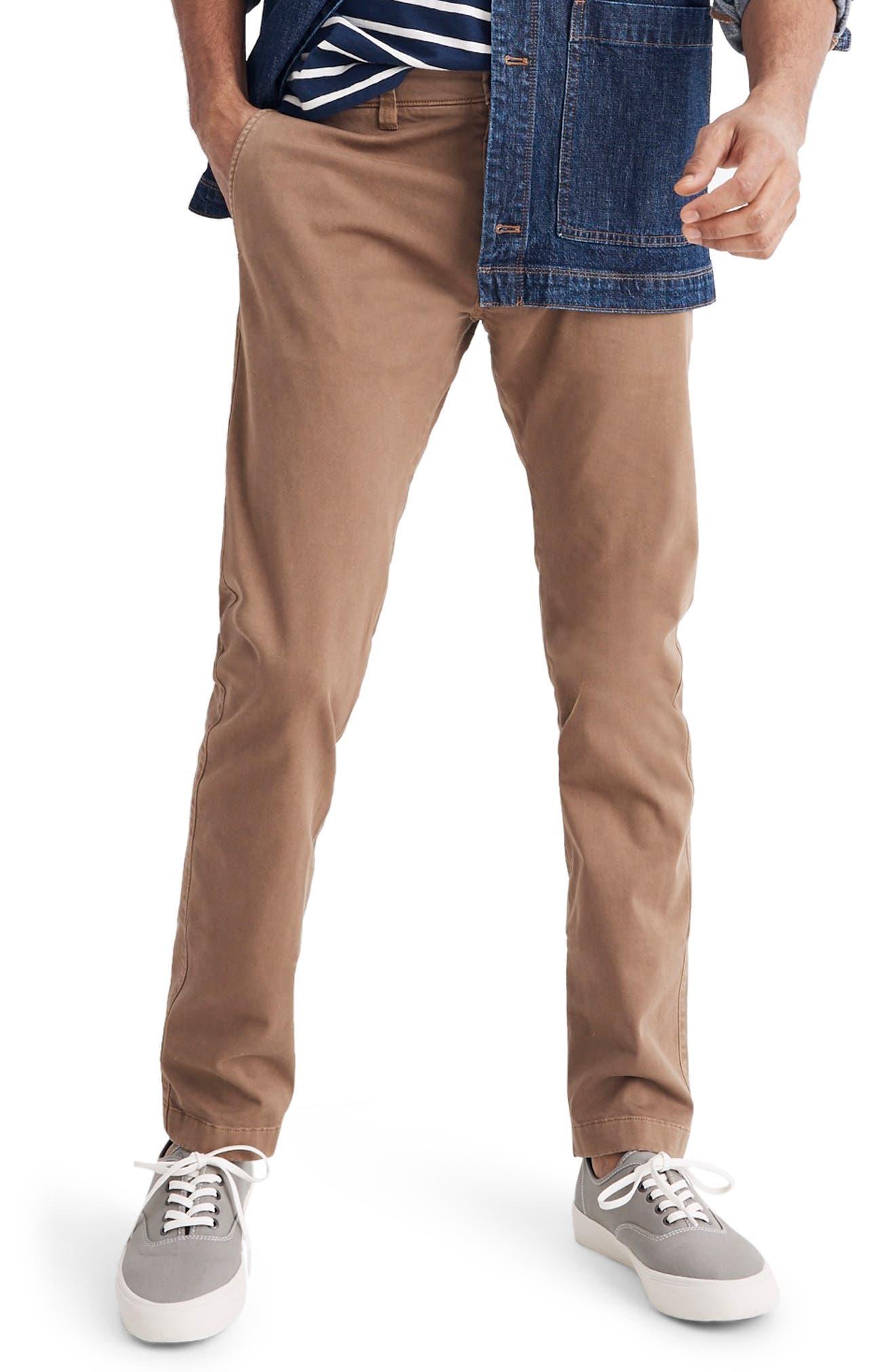 Madewell Penn Slim Fit Chino Pants, Brown