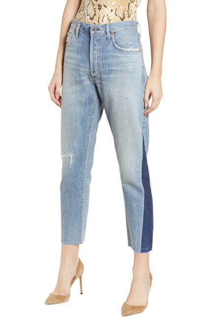 Image of Citizens Of Humanity Liya Ripped Shadow Detail Raw Hem Jeans