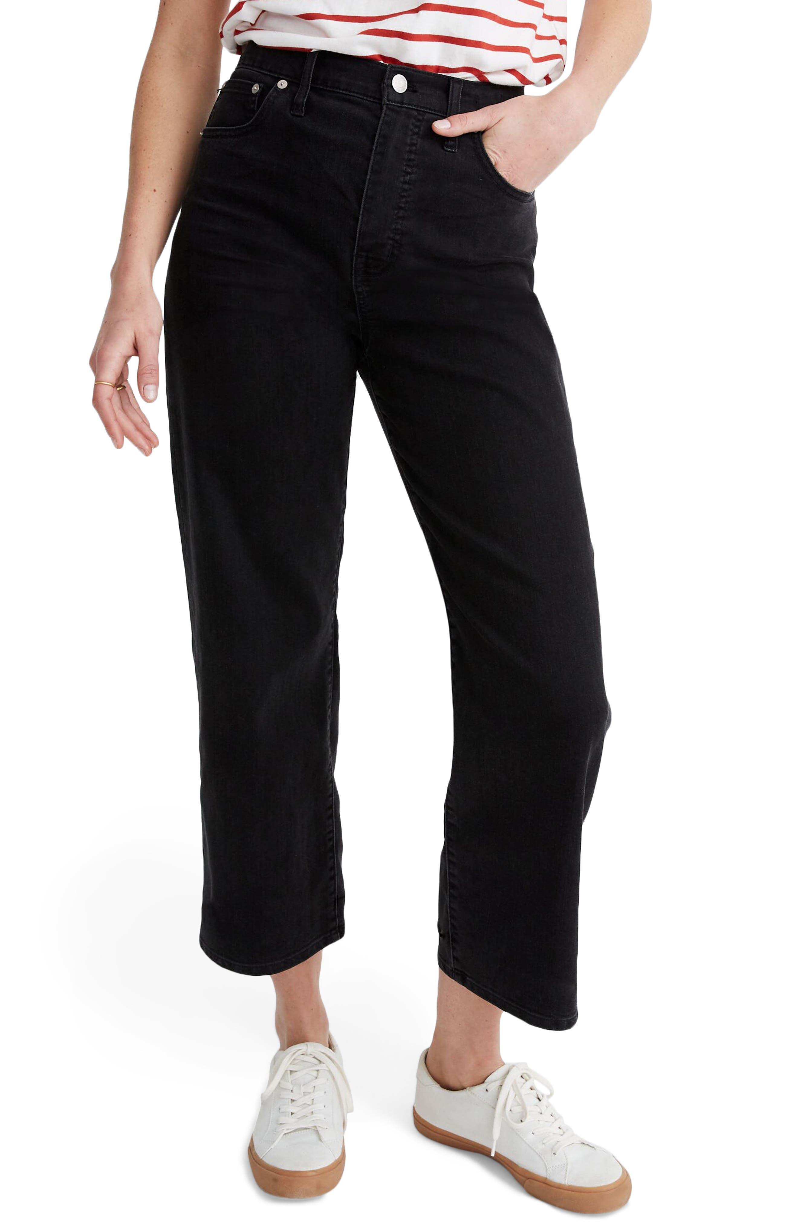Madewell Slim Fit Wide Leg Jeans (Lunar Wash) | Nordstrom