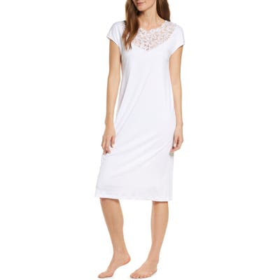 Hanro Najuma Cap Sleeve Nightgown, White