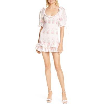 Loveshackfancy Violet Minidress, Pink
