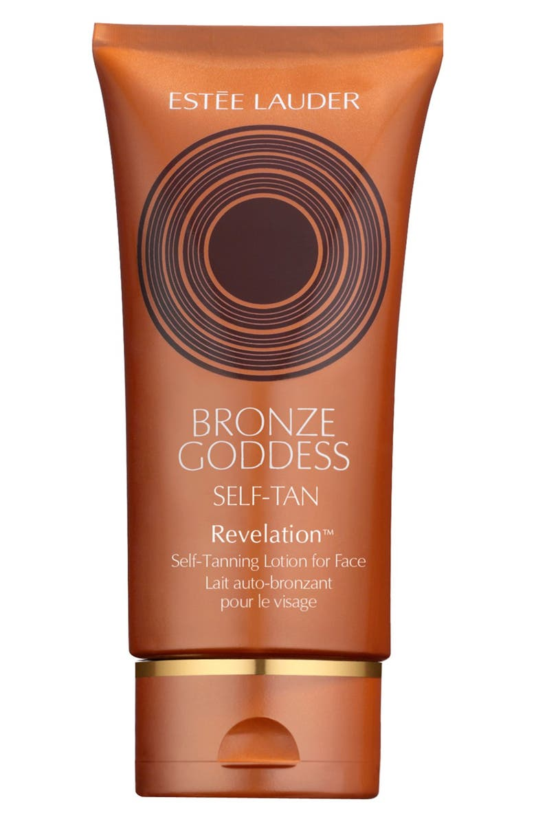 ESTÉE LAUDER 'Bronze Goddess Golden Perfection' Self-Tanning Lotion for Face, Main, color, 000