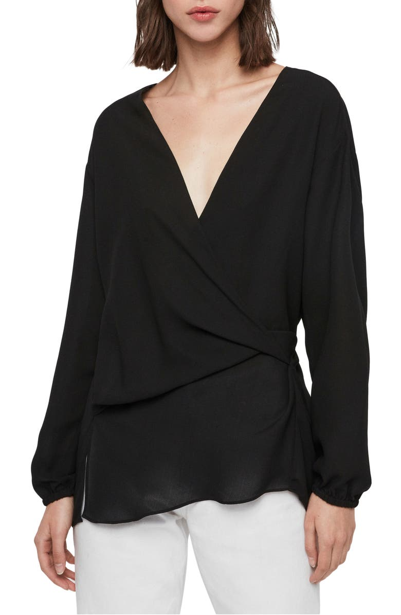 ALLSAINTS Mia Top, Main, color, BLACK