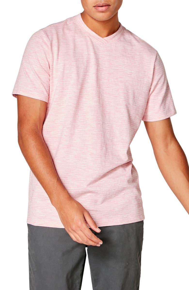 GOOD MAN BRAND Akasaka Slim Fit Slub Stripe Jersey T-Shirt, Main, color, PINK HEATHER