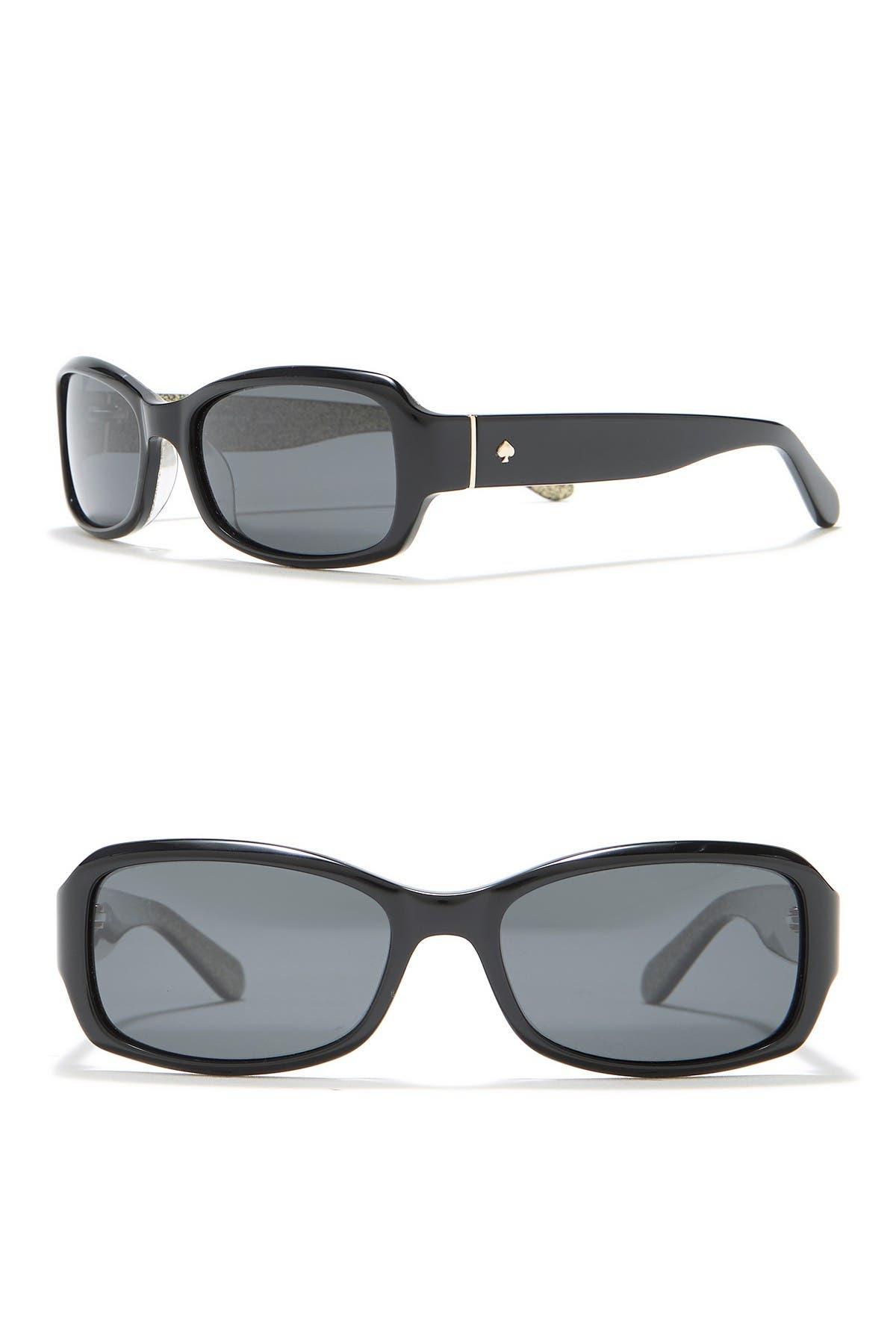 Image of kate spade new york adely 53mm rectangular polarized sunglasses
