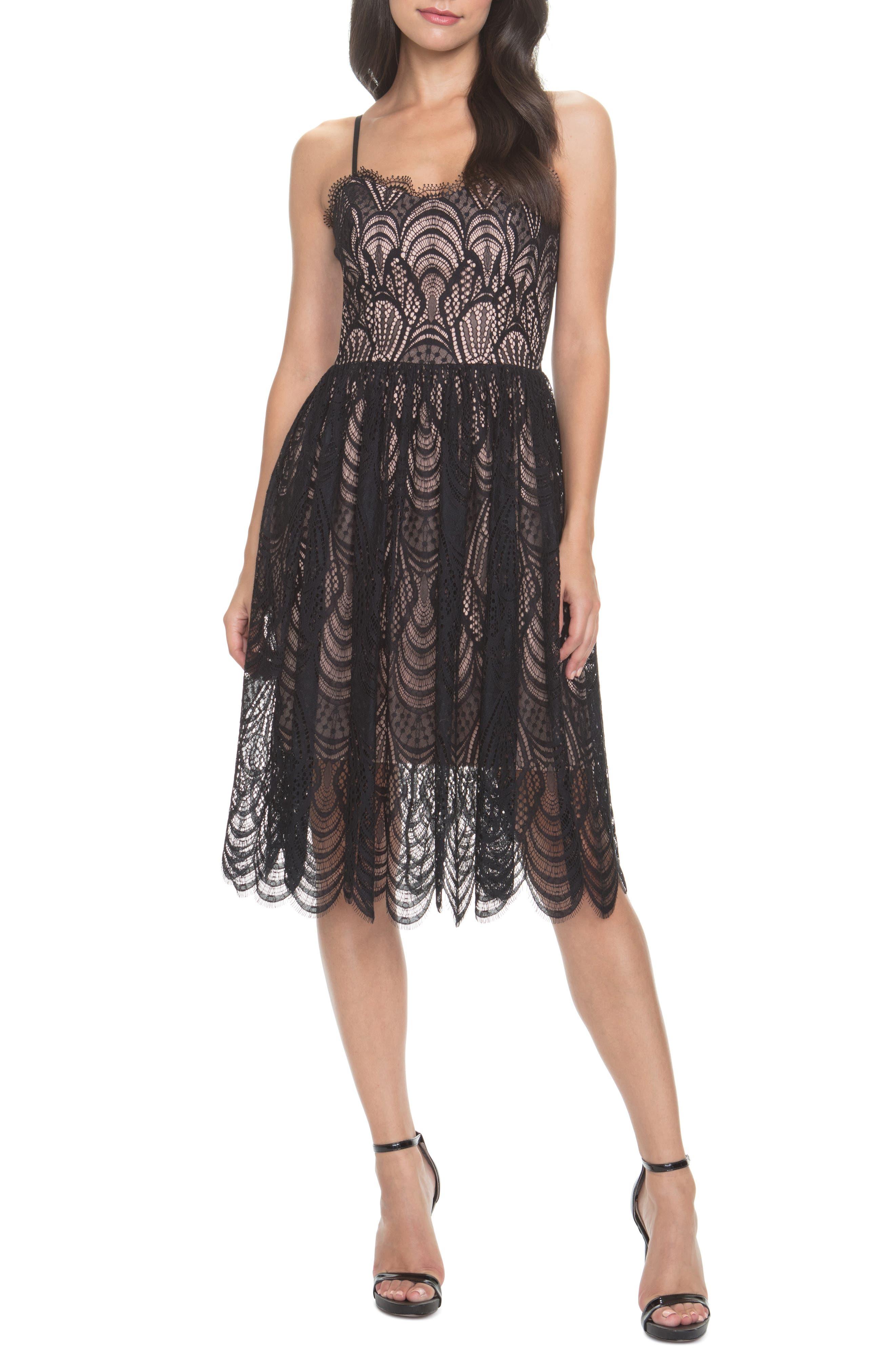 Dress The Population Francesca Embroidered Lace A-Line Dress