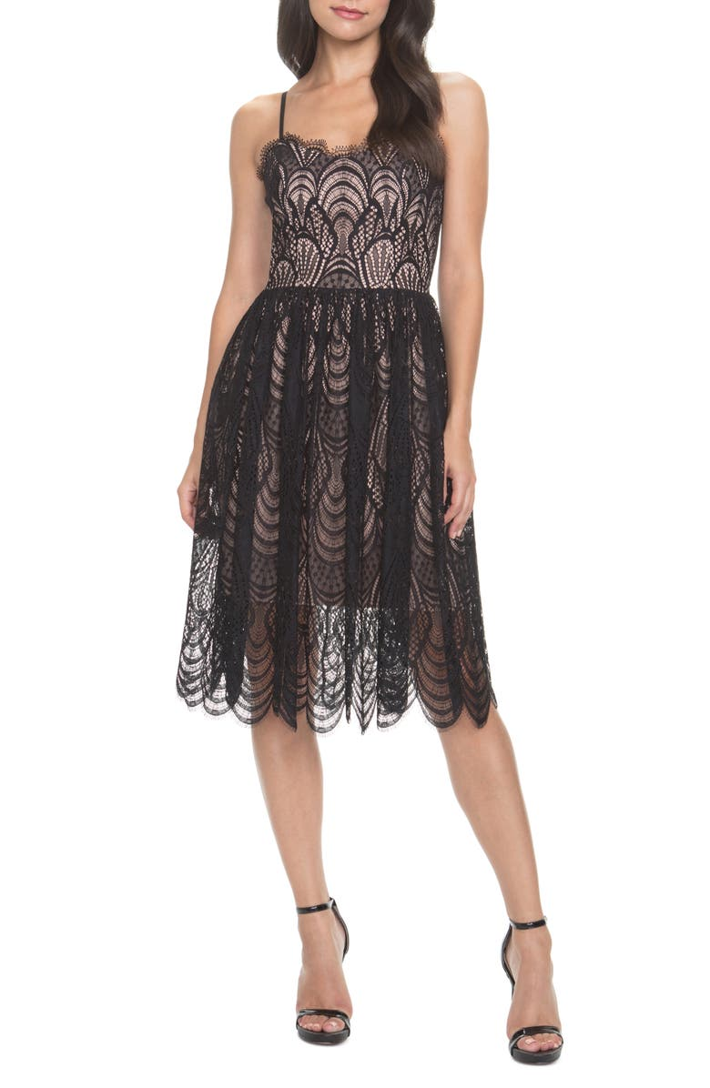 Dress The Population Francesca Embroidered Lace A Line Dress