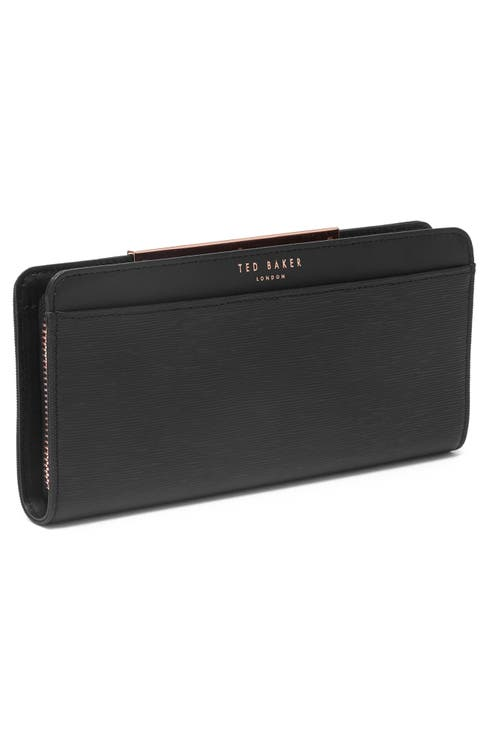 58059ad4f65 Ted Baker London Yasmine Plissé Leather Matinée Wallet | Nordstrom