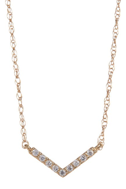 Image of Candela 10K Yellow Gold CZ Chevron Necklace