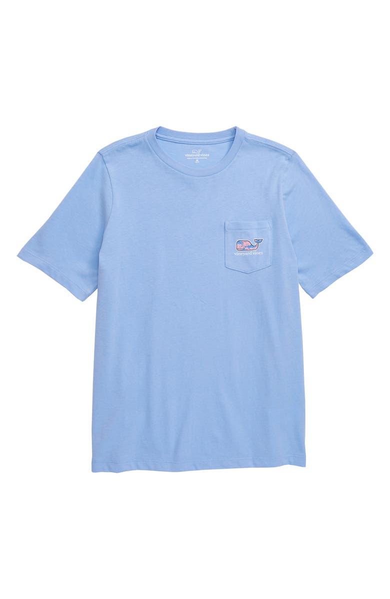 VINEYARD VINES Fish Stars Whale Fill Pocket T-Shirt, Main, color, 458
