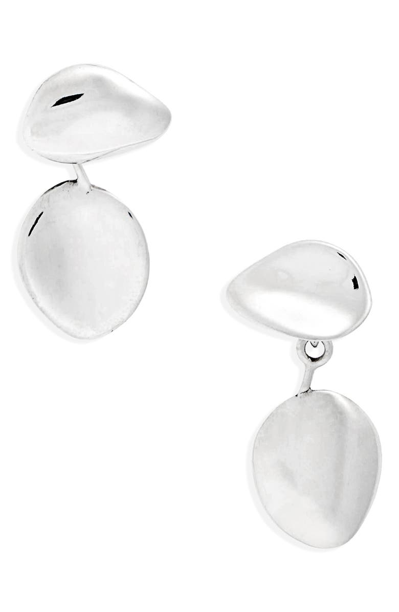 FARIS Petal Drop Earrings, Main, color, STERLING SILVER