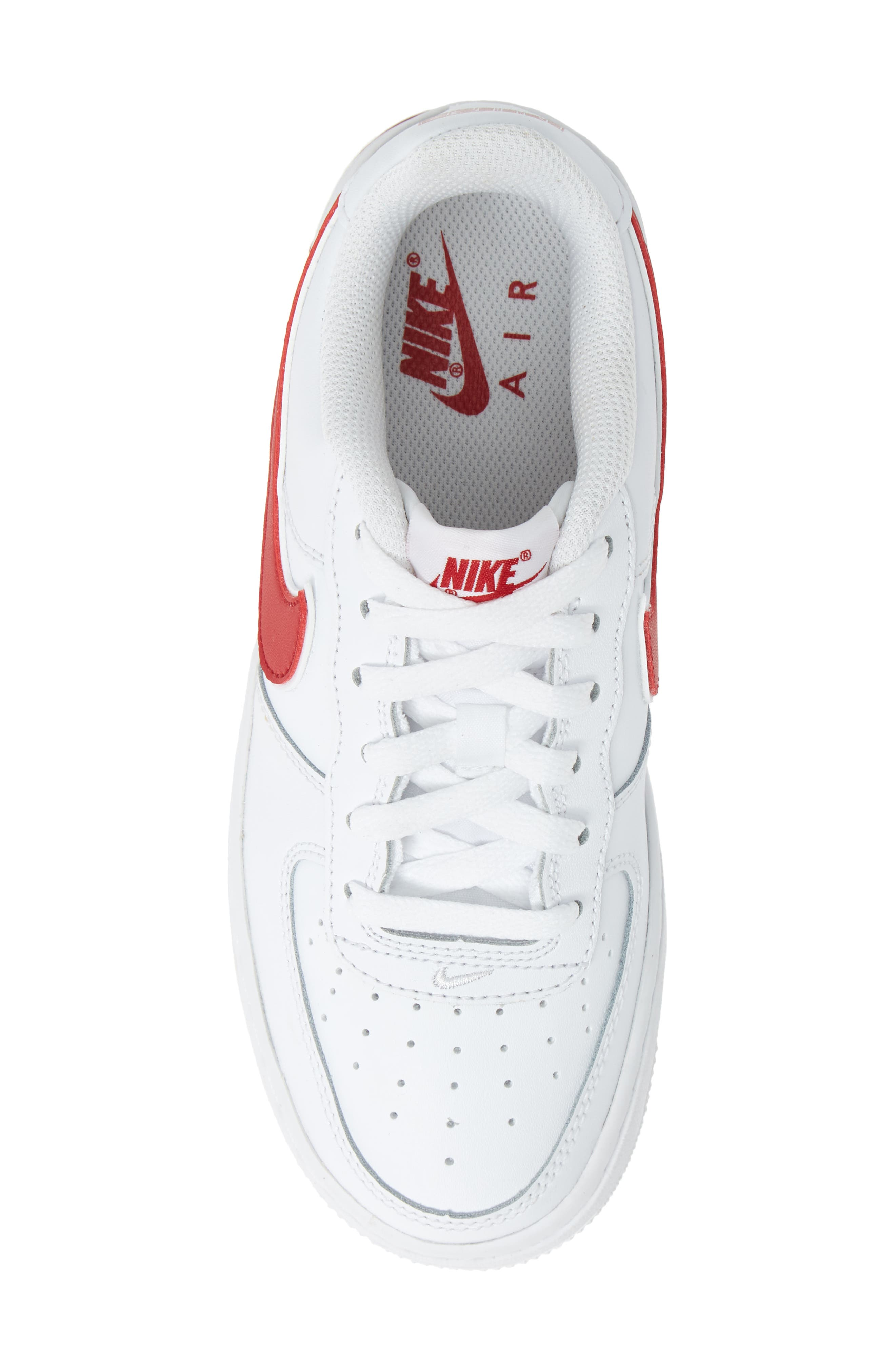 ,                             Air Force 1-3 Sneaker,                             Alternate thumbnail 5, color,                             WHITE/ GYM RED