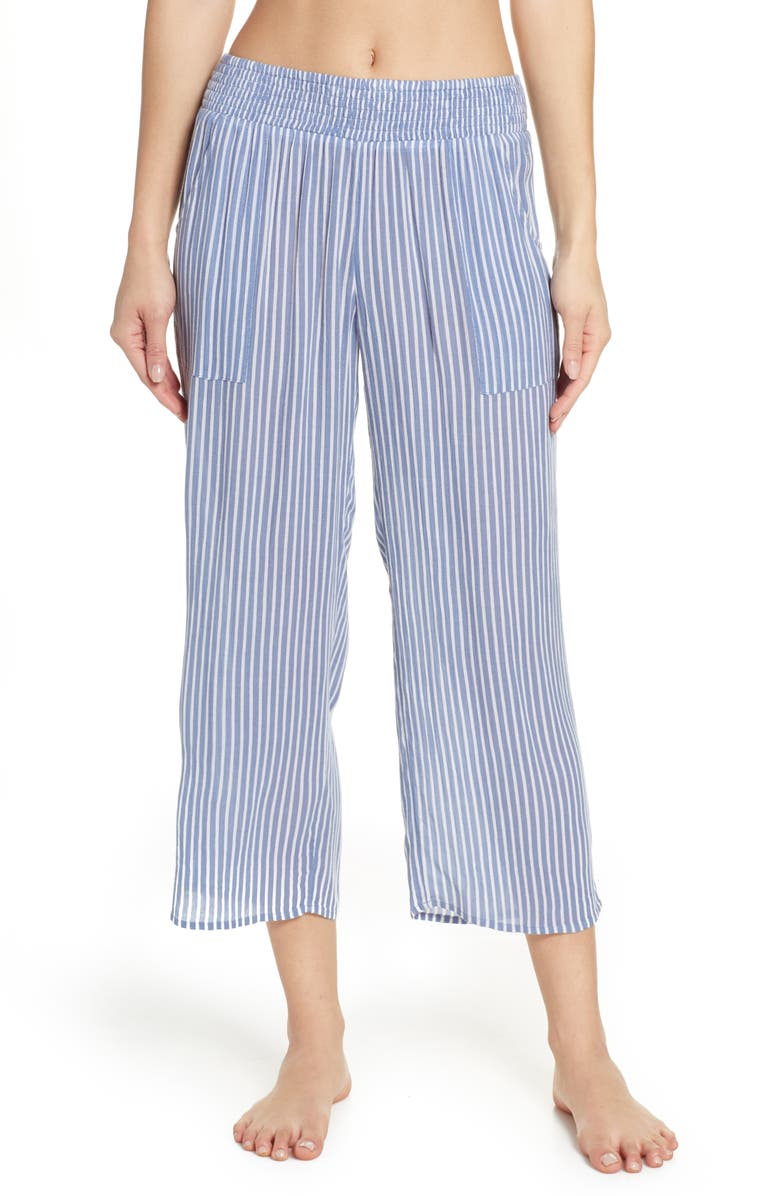 MAKE + MODEL Crop Pants, Main, color, BLUE STONEWASH STRIPE