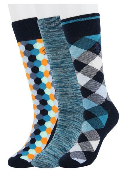 Image of Original Penguin Random Feed Argyle Socks - Pack of 3