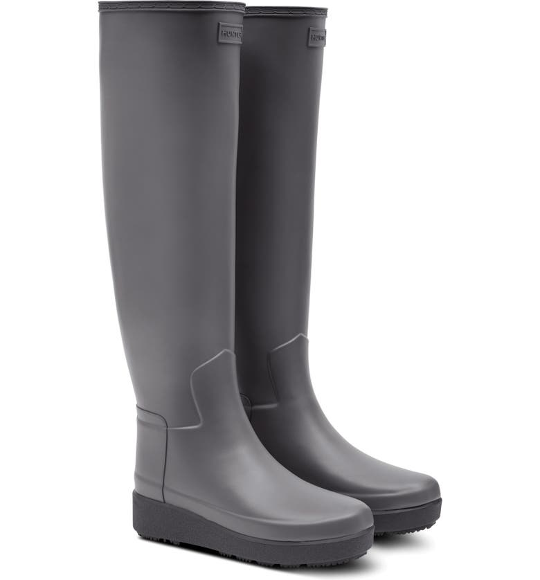 HUNTER Refined Creeper Over the Knee Rain Boot, Main, color, STRATUS