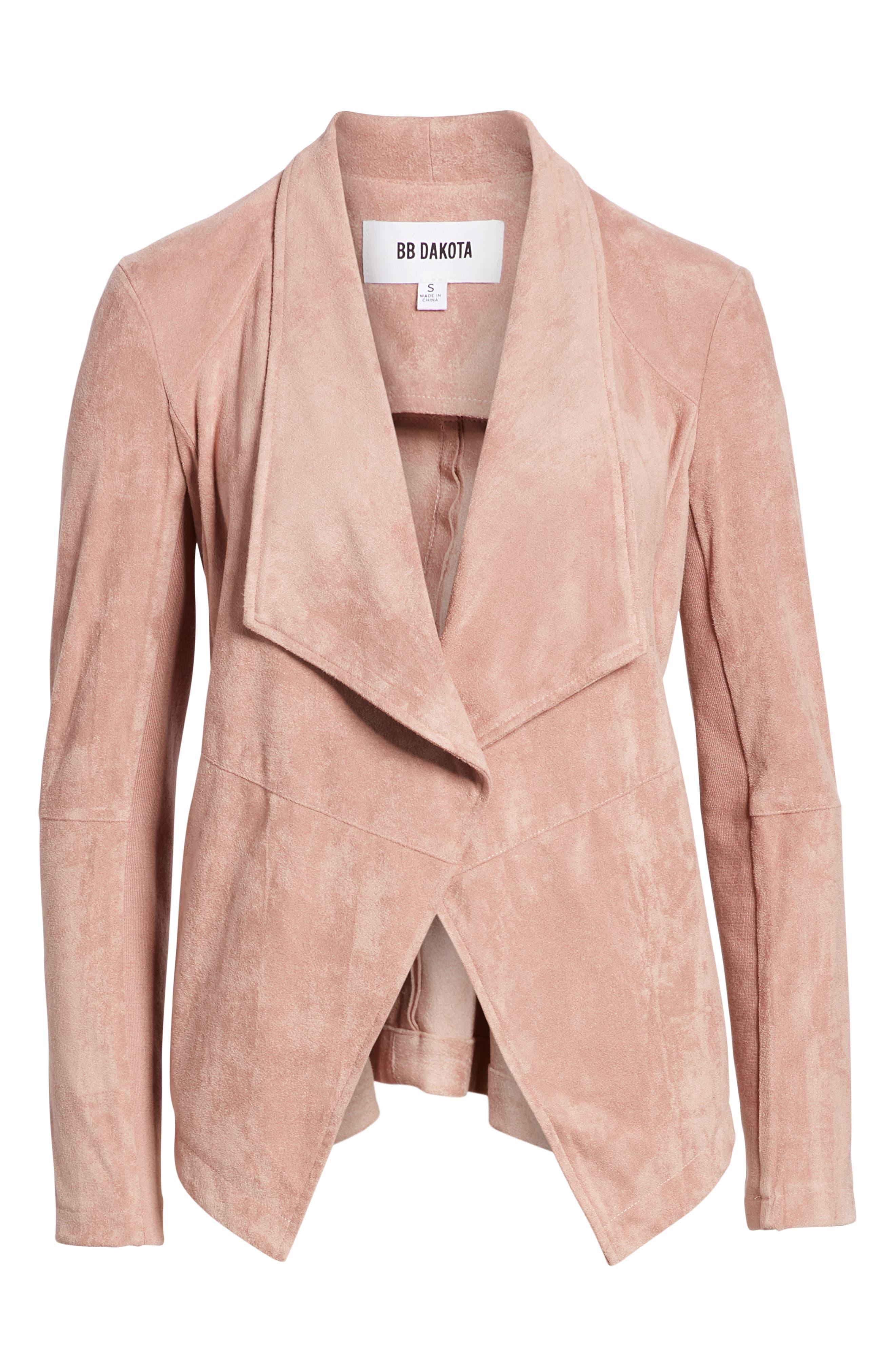 ,                             Nicholson Faux Suede Drape Front Jacket,                             Alternate thumbnail 57, color,                             651