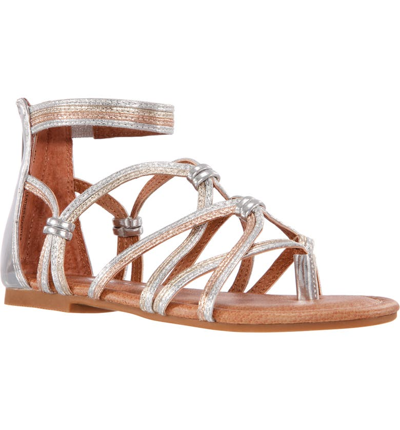 NINA Sandal, Main, color, MULTI CRACKLE METALLIC