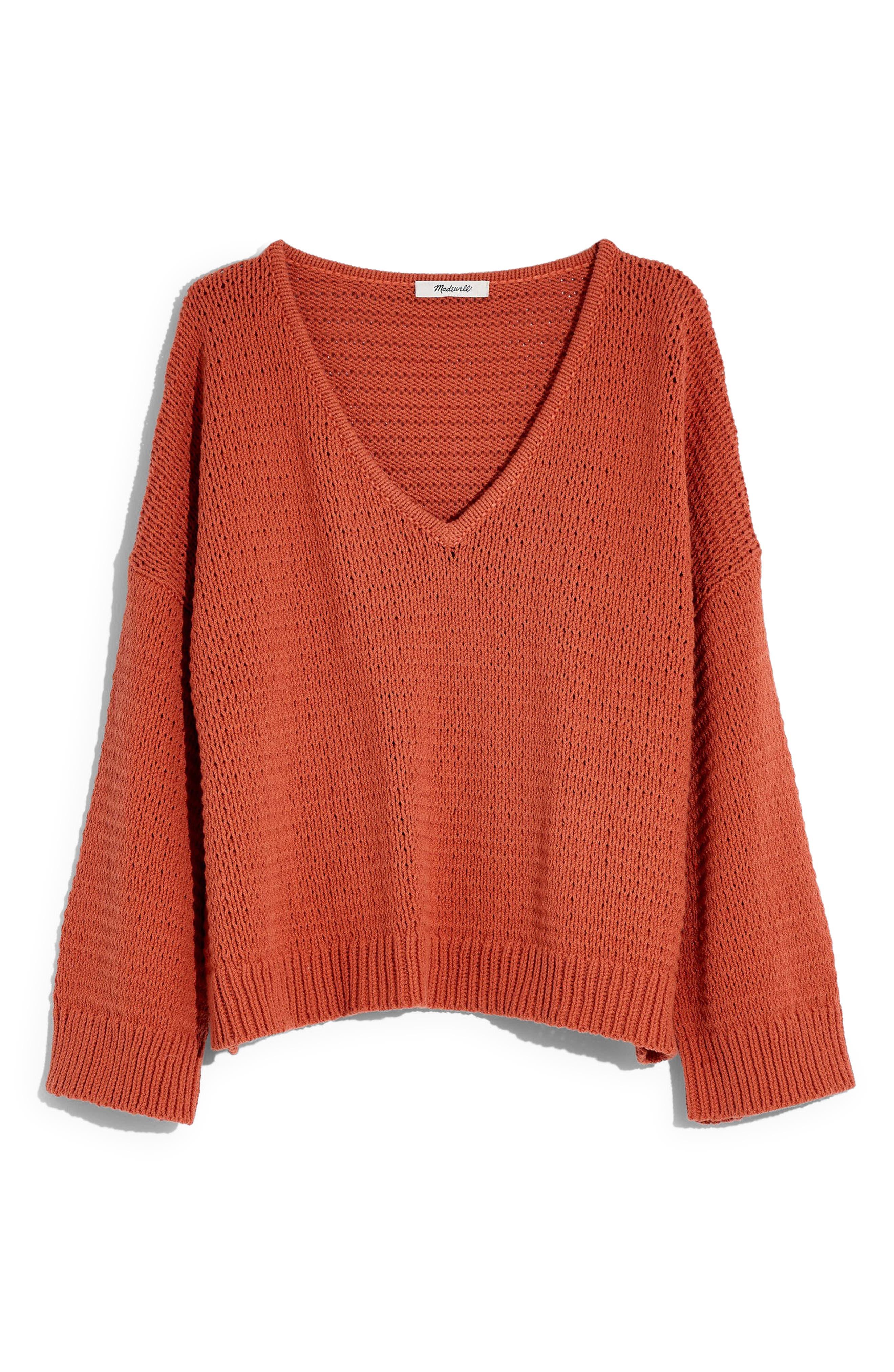 ,                             Breezeway Pullover Sweater,                             Main thumbnail 1, color,                             SWEET DAHLIA