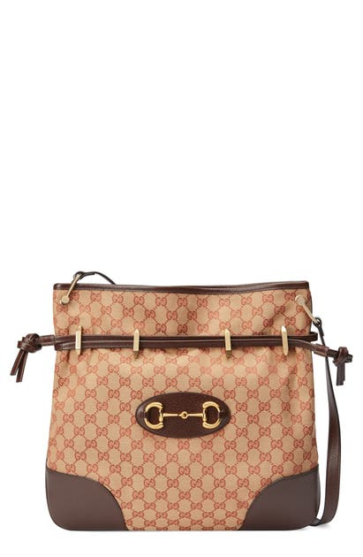 Gucci Bags LARGE 1955 HORSEBIT GG ORIGINAL CANVAS MESSENGER BAG - BURGUNDY