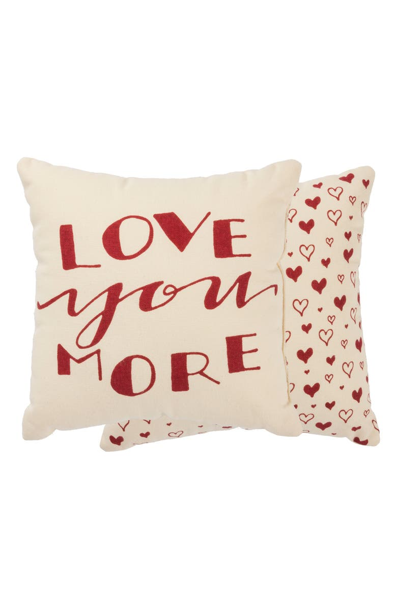 PRIMITIVES BY KATHY Love You More Accent Pillow, Main, color, 100