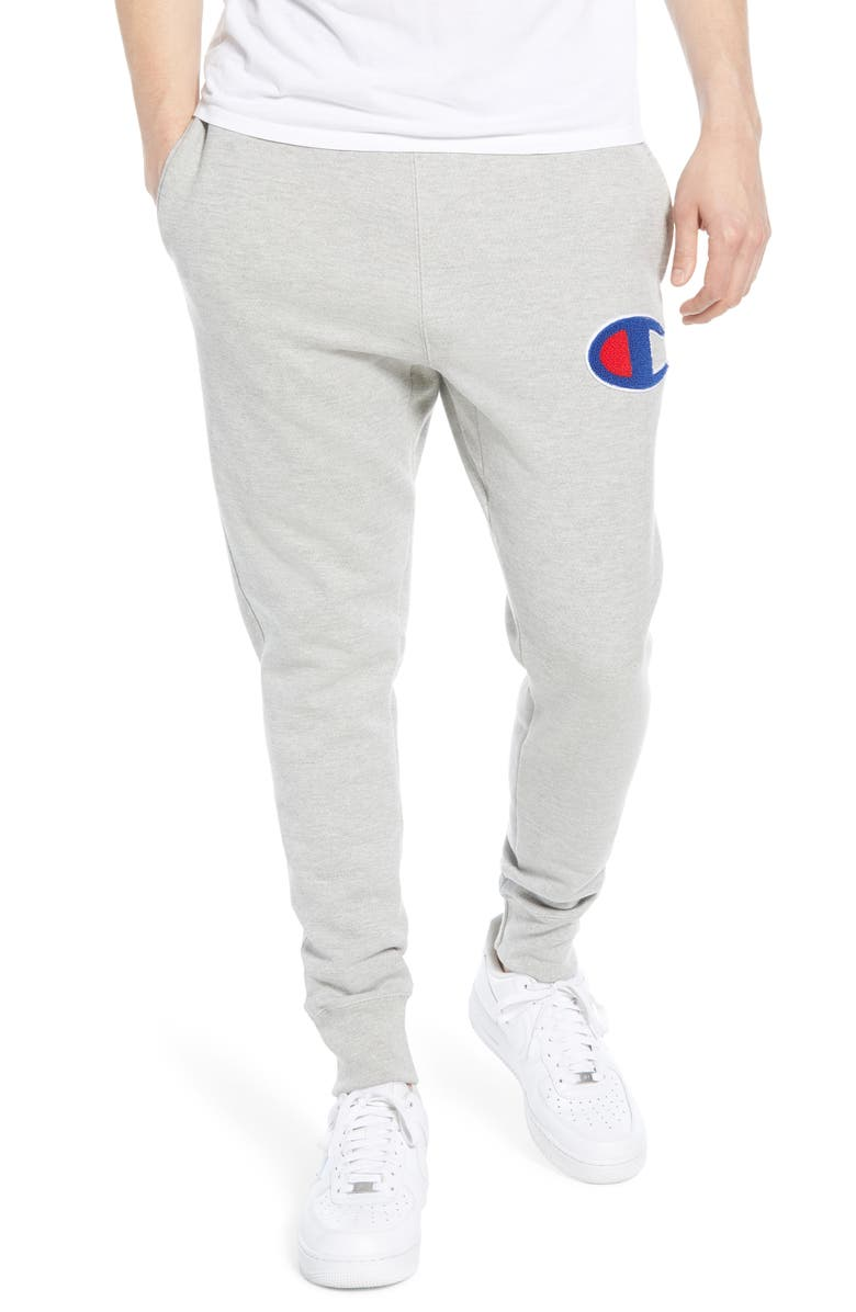 CHAMPION Chenille Logo Sweatpants, Main, color, 021