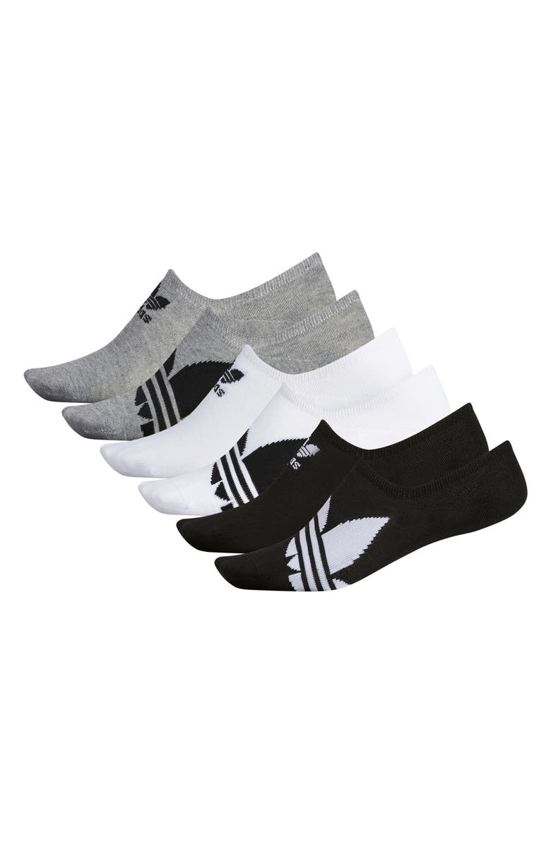 ADIDAS ORIGINALS 3-Pack Super No-Show Socks, Main, color, 001