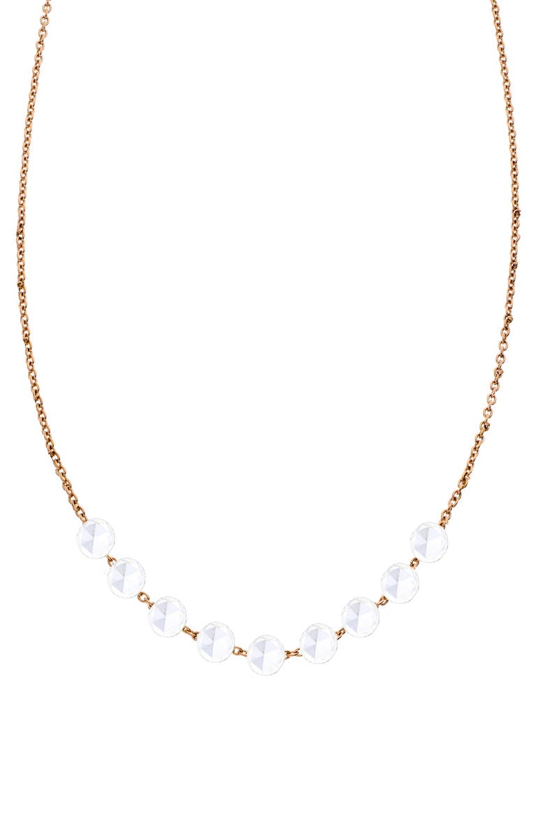 SETHI COUTURE Rose Cut 9-Stone Diamond Necklace, Main, color, ROSE GOLD/ DIAMOND